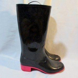 CHANEL Wellies Rubber Rain Boot